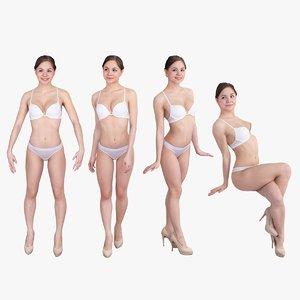 pack woman underwear 3d x
