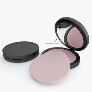 cosmetic powder 3d model