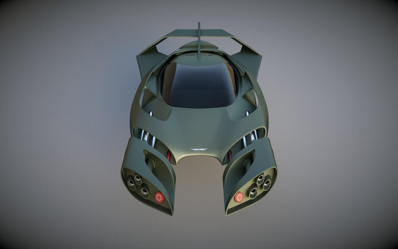 3d model fighter originally designed