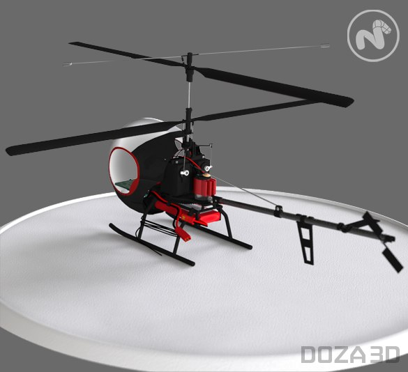free rc helicopter 3d model
