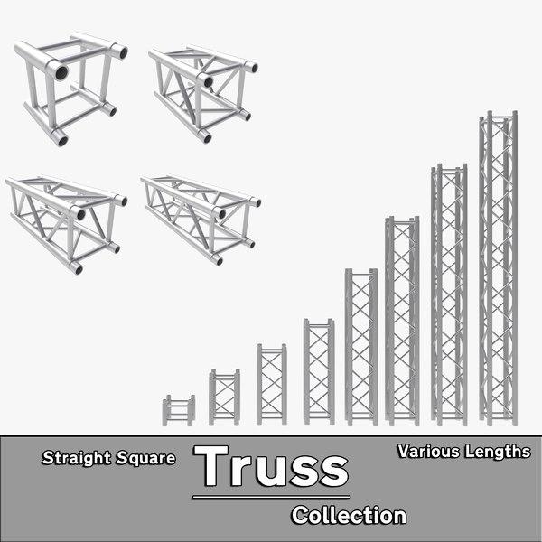 3d straight truss