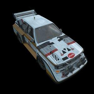 quattro rally b-group 3d model