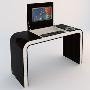 3d model concept pc table desk
