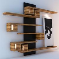 3d model shelves painting