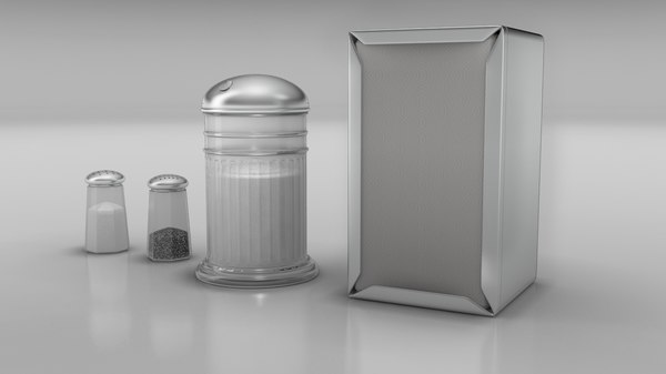 3d diner salt pepper shaker model
