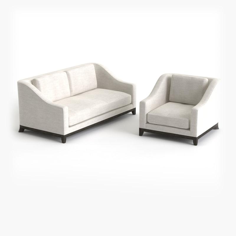 designer fabric sofa armchair 3d max