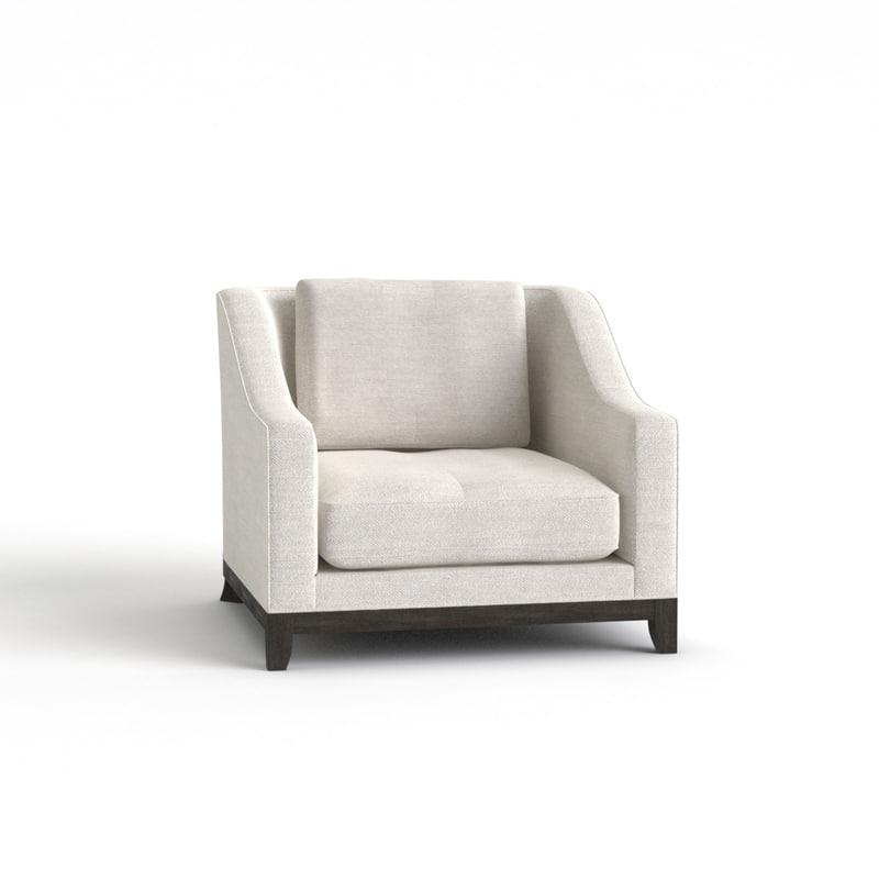 3d max designer fabric armchair