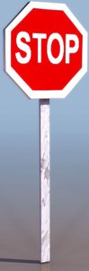 3d simple stop sign model