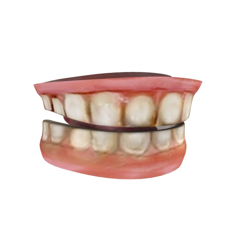 teeth tongue 3d model