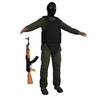 terrorist ak47 soldier max