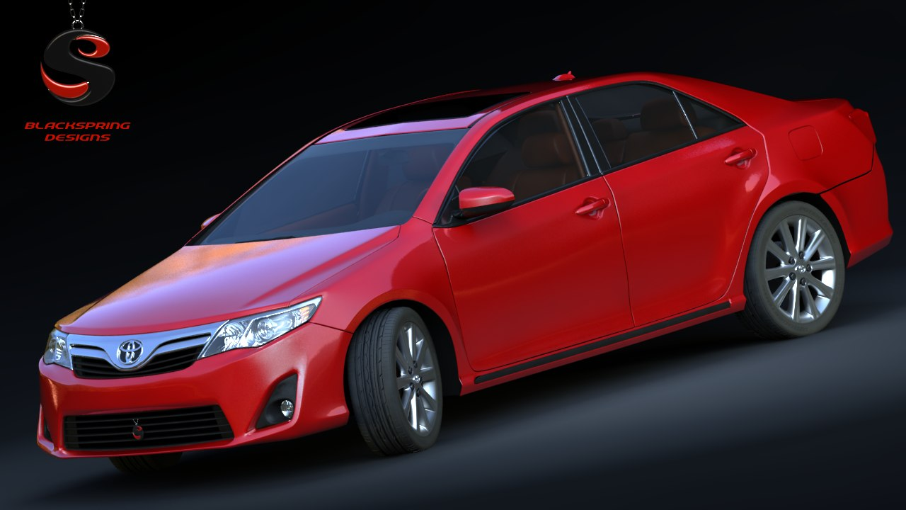 3d toyota camry 2012 model