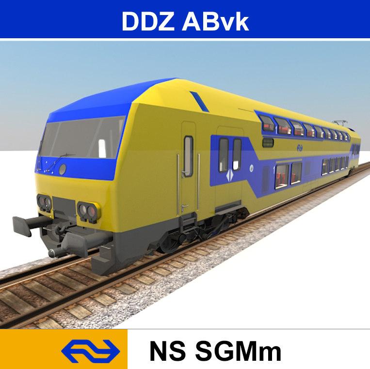 3d model passenger train