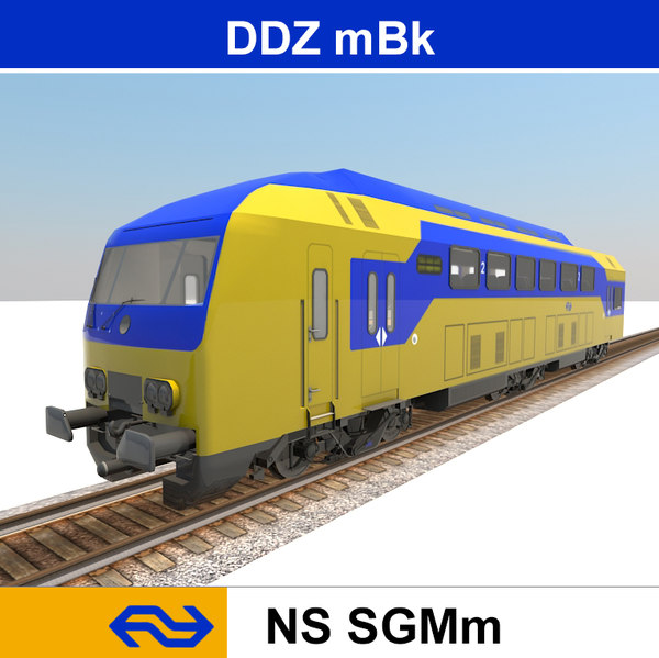 passenger train ddz 3d obj