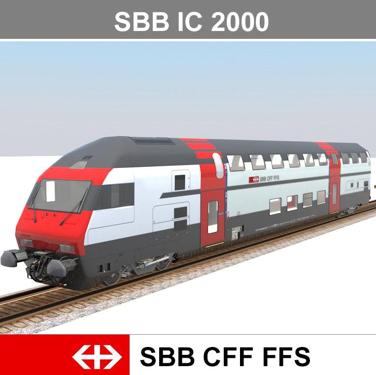 passenger train 3d 3ds