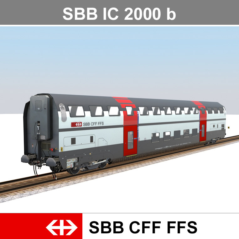 3d passenger train model