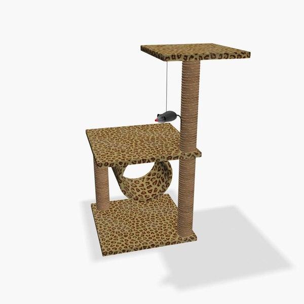 3d model domestic cat tree