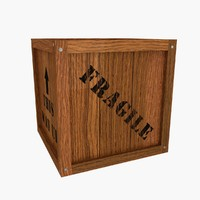 wooden crate text obj