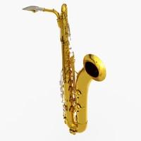 3ds max baritone saxophone