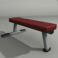 3ds max flat bench