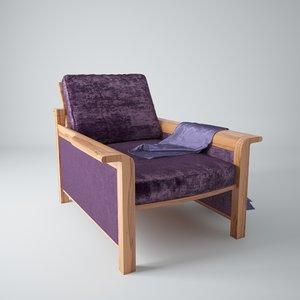 3d dwg 60s chair