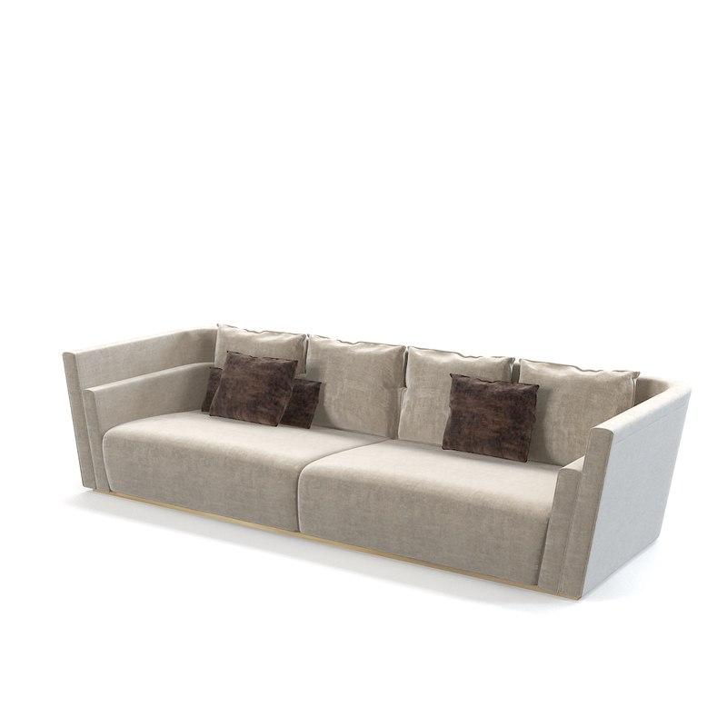 fendi borromini sofa 3d model
