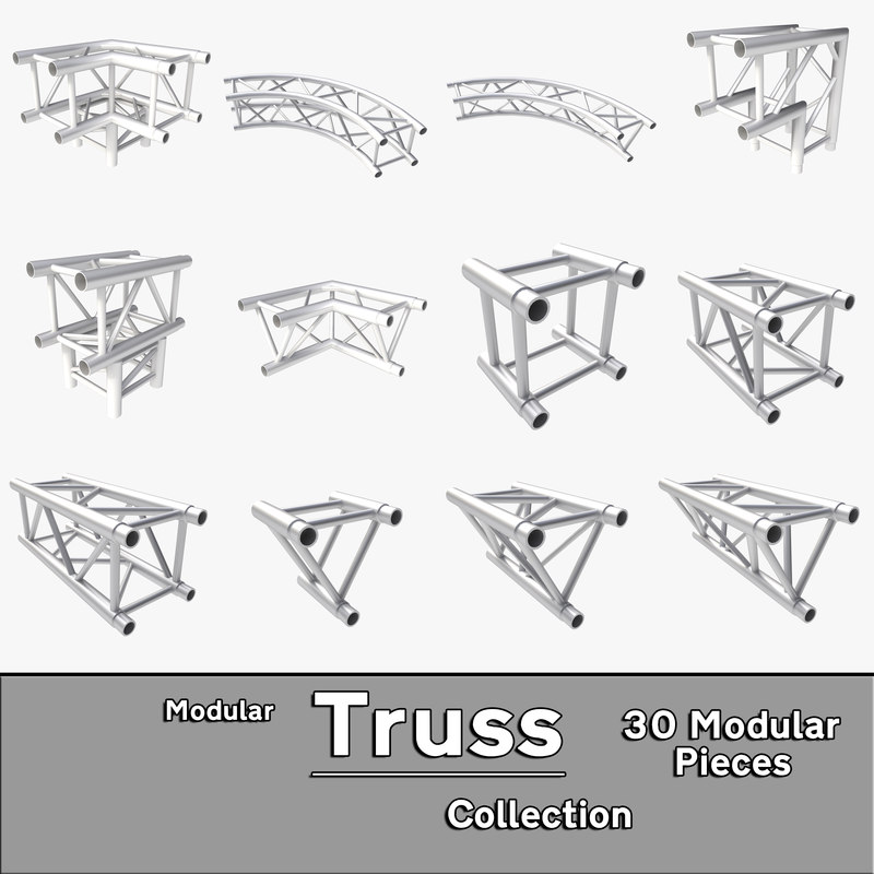 3d modular truss collections model