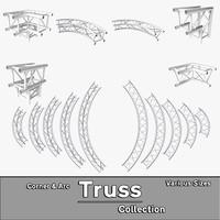arc corner truss 3d model