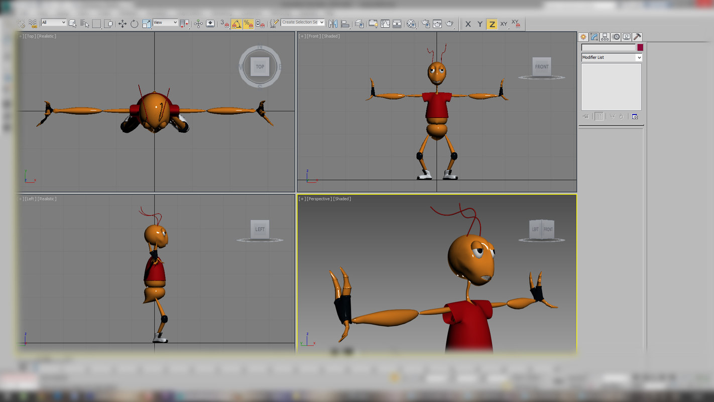 ant character rigged max