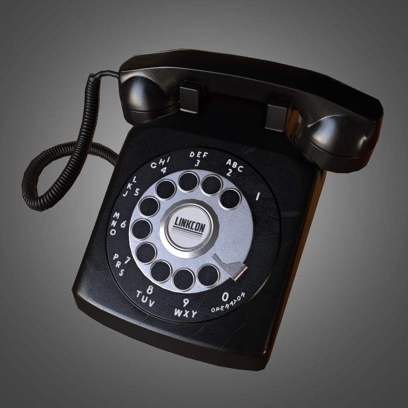 3ds max ready rotary phone