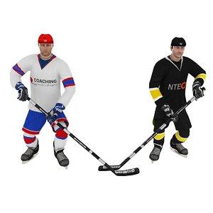 pack hockey poses 3d model