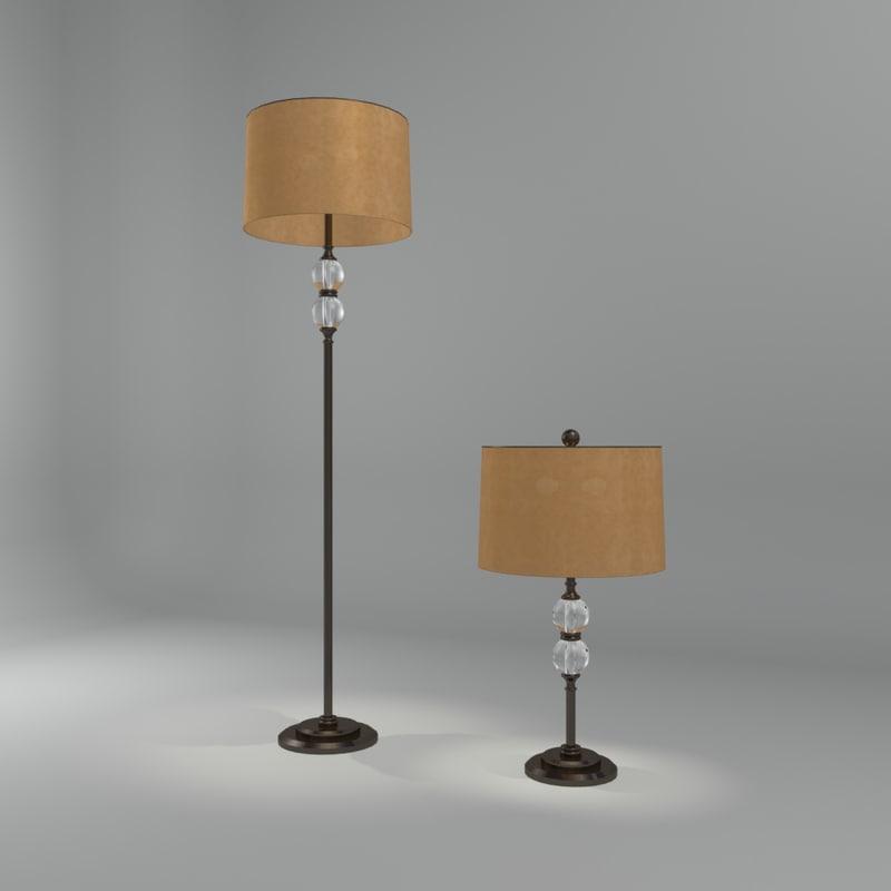 3d braedon lamp interior model