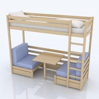 c4d kids bed
