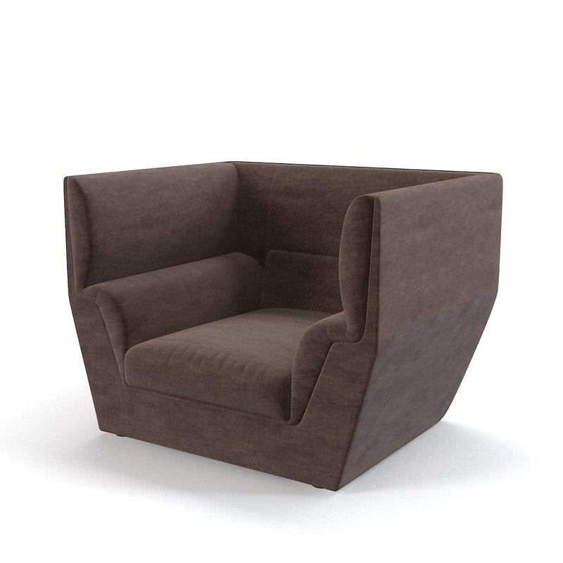 3dsmax fendi cocoon sofa