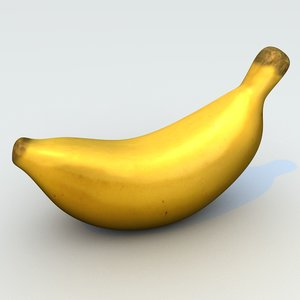 baby banana 3d c4d