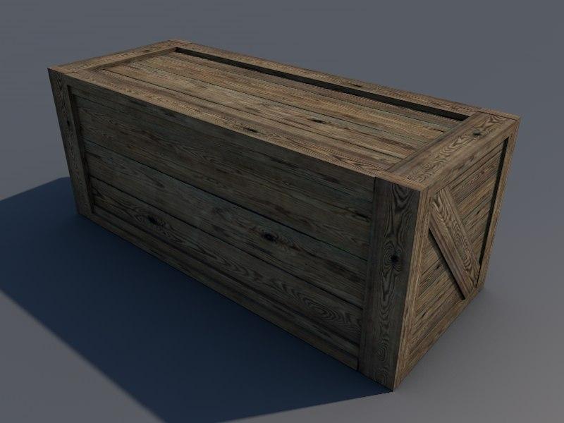 wood box 3d model