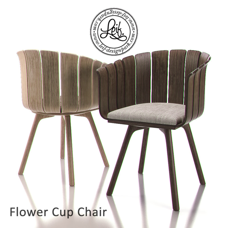 3ds max flower cup chair