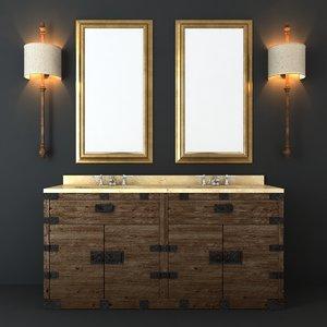 3d heirloom hardware furniture set