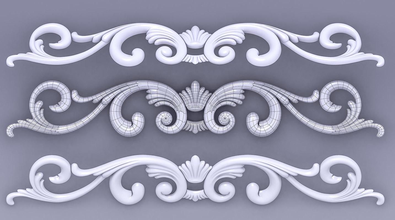 3d element decoration model