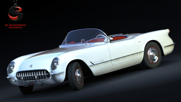 3ds max chevrolet corvette 1953