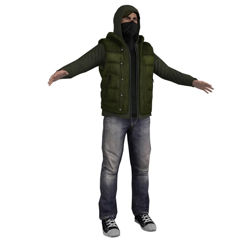 rebel man 3d model