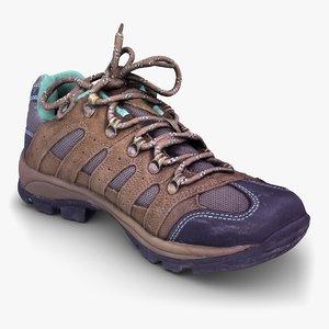 north face shoe 3d max