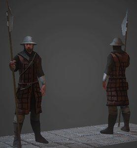 city guard 3d model