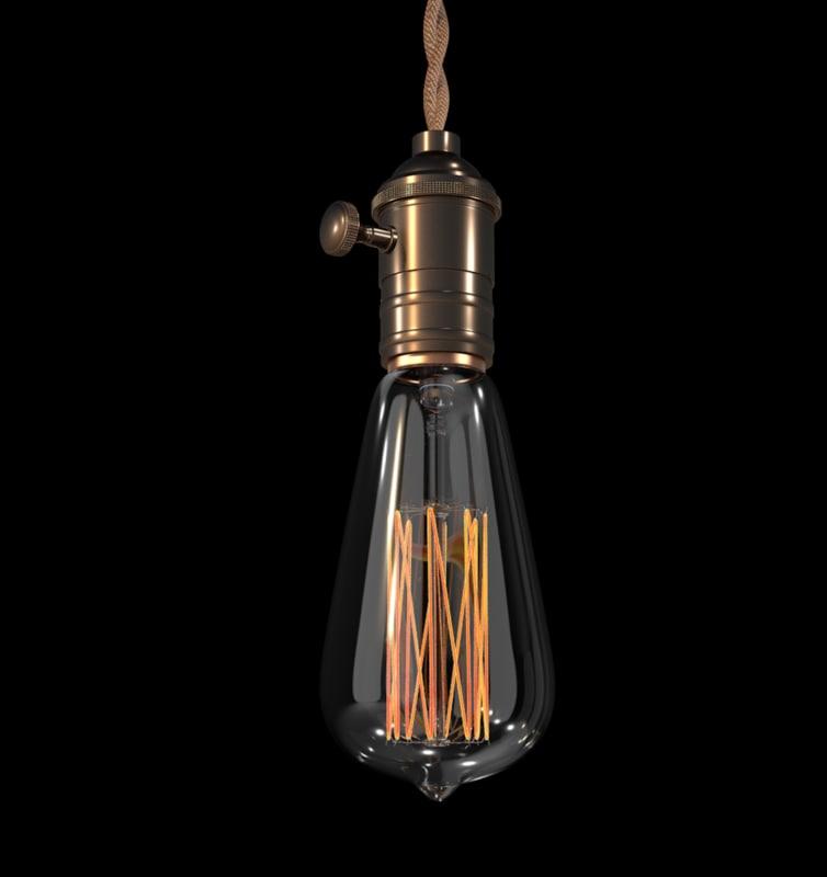 edison light bulb 3d c4d