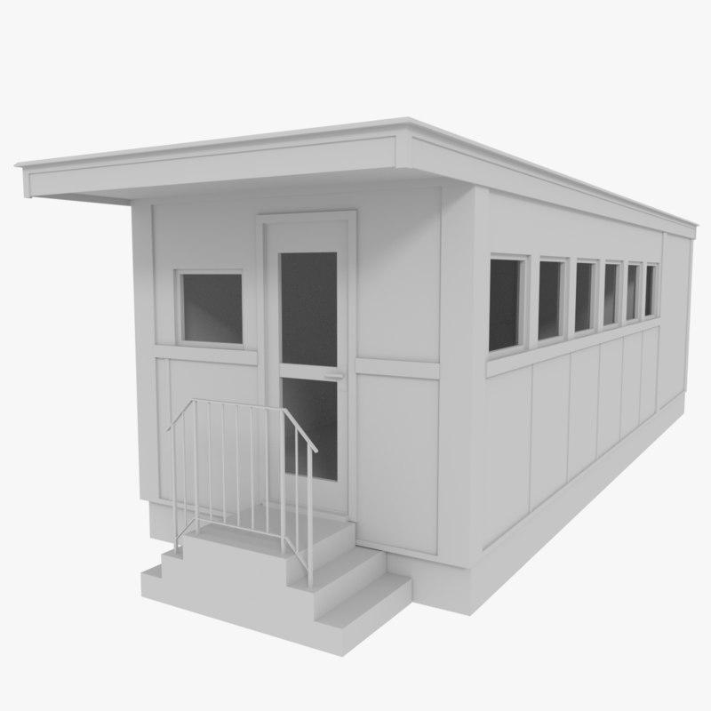 diner interior exterior 3d 3ds