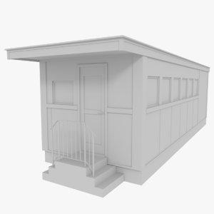 3d model diner real scale