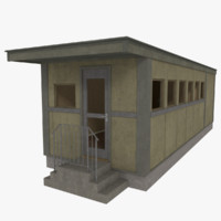 3ds diner interior exterior