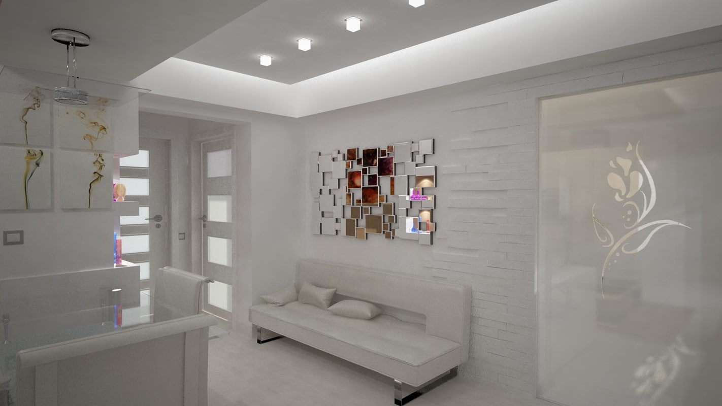 3d apartament entrance hall kitchen model