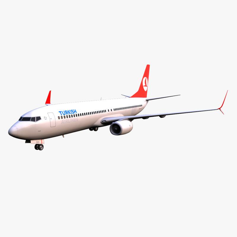 3ds max turkish airlines boeing