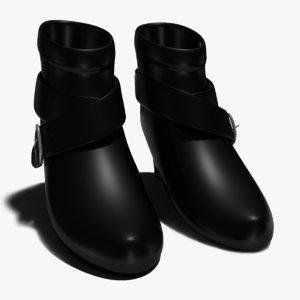 women s leather ankle 3d obj