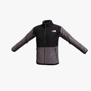 3d north face denali jacket model